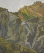 Charles Ginner A.R.A. (British, 1878-1952) Mountainous landscape 61.2 x 51.2 cm. (24 x 20 1/8 in.)
