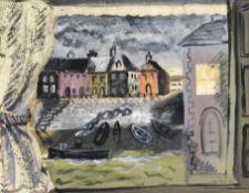 John Piper C.H. (British, 1903-1992) Harbour through a window 38.1 x 50.3 cm. (15 x 19 3/4 in.)
