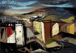 John Piper C.H. (British, 1903-1992) Stone Gate, Portland 71.8 x 102 cm. (28 1/4 x 40 1/8 in.) (P...