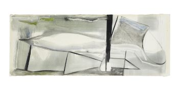 Peter Lanyon (British, 1918-1964) High Tide 25 x 64.3 cm. (9 7/8 x 25 1/4 in.)