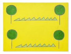 Peter Kinley (British, 1926-1988) Summer 137.2 x 182.9 cm. (54 x 72 in.)