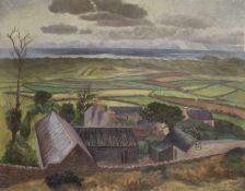 John Nash R.A. (British, 1893-1977) Llangennith Panorama 71.2 x 91.5 cm. (28 x 36 in.)