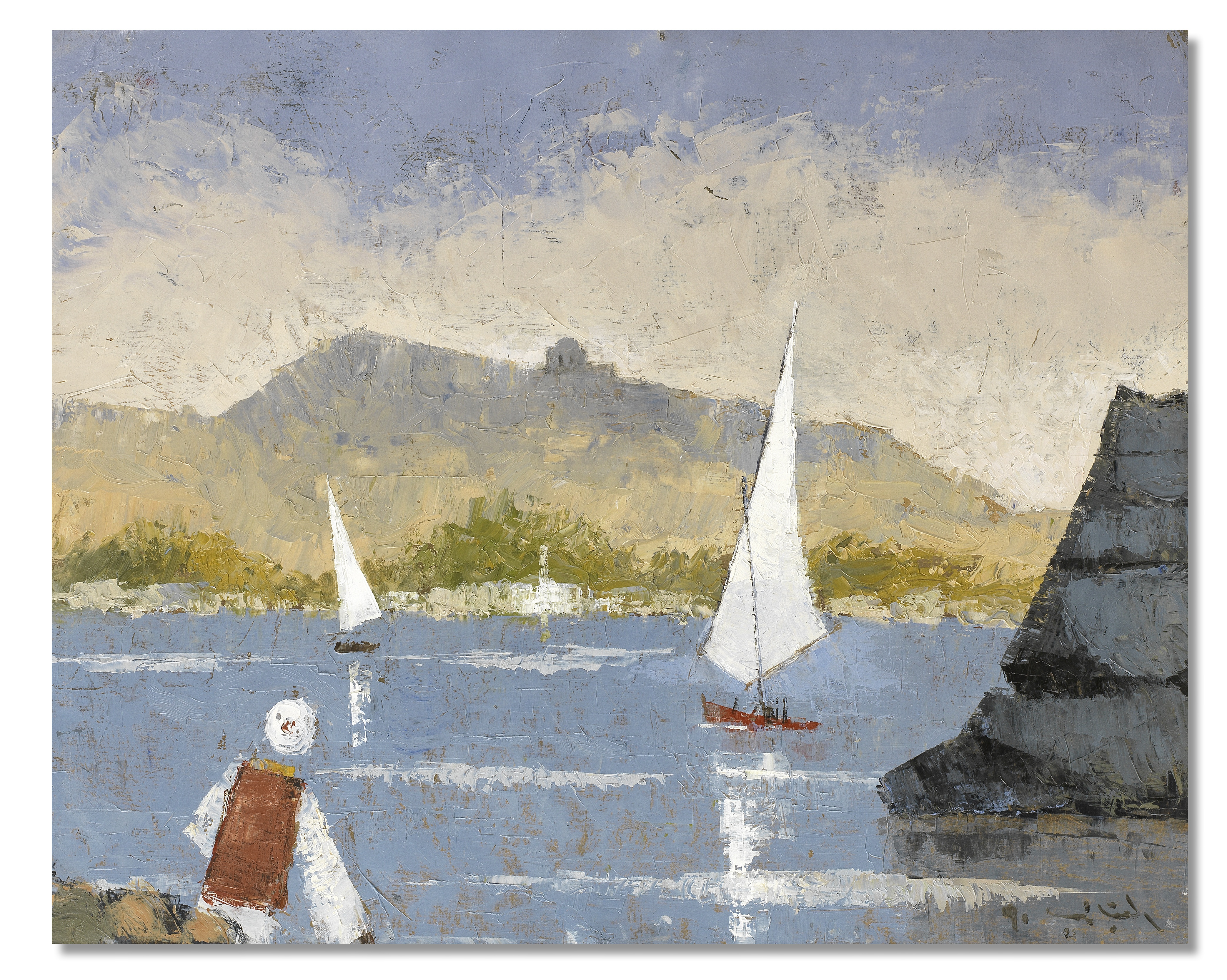 Mohamed Kabbani (Egypt, 1926-1995) The Nile