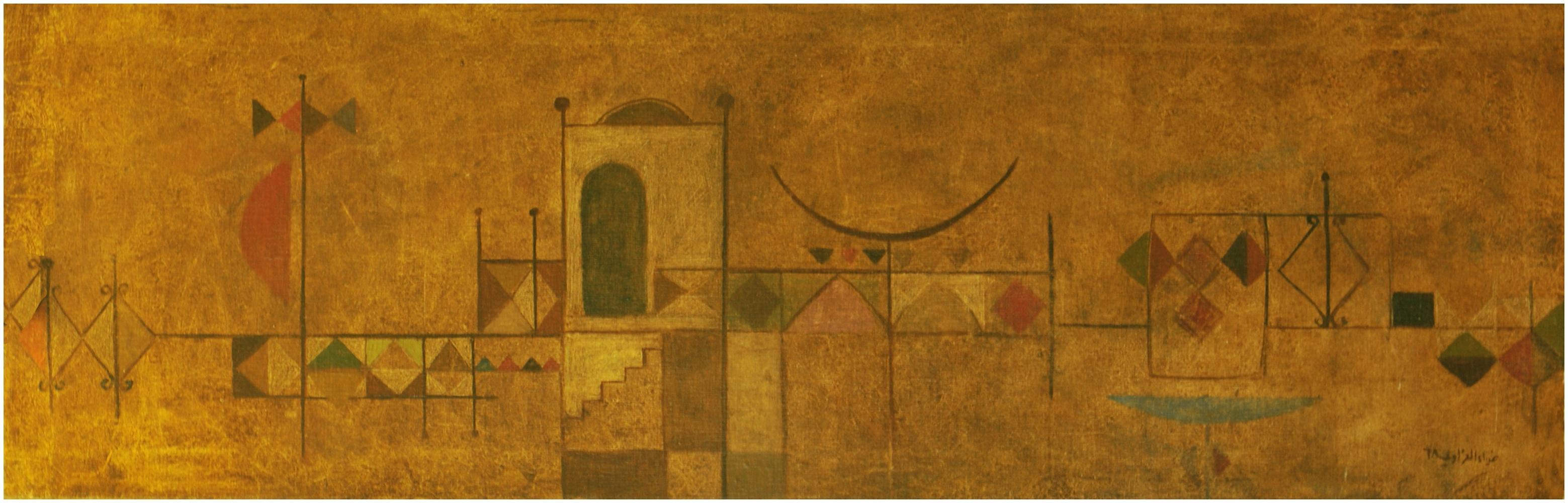 Dia Azzawi (Iraq, born 1939) Architectural Composition