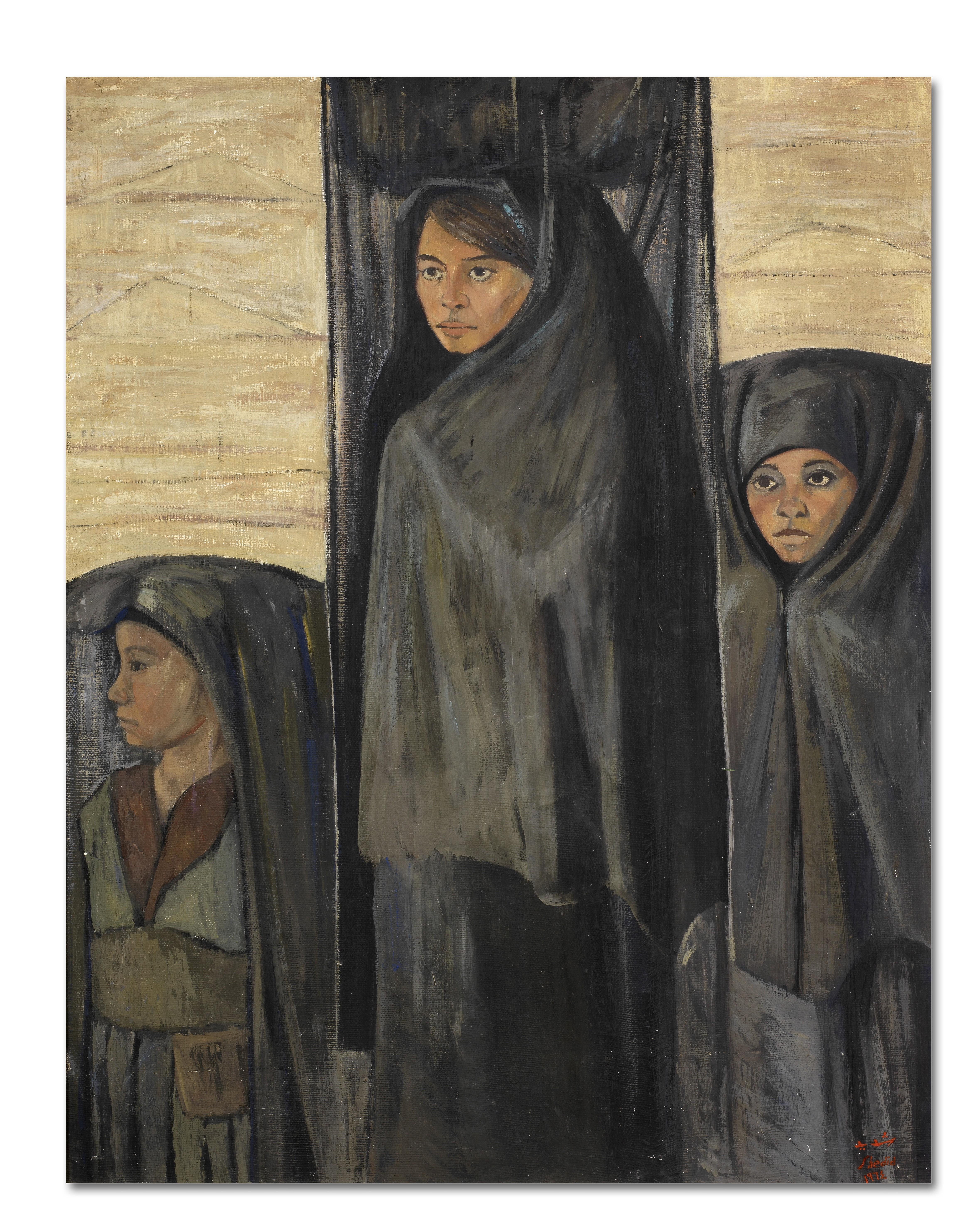 Abdel Ghaffar Shedid (Egypt, born 1938) Three Nubian Fellahas