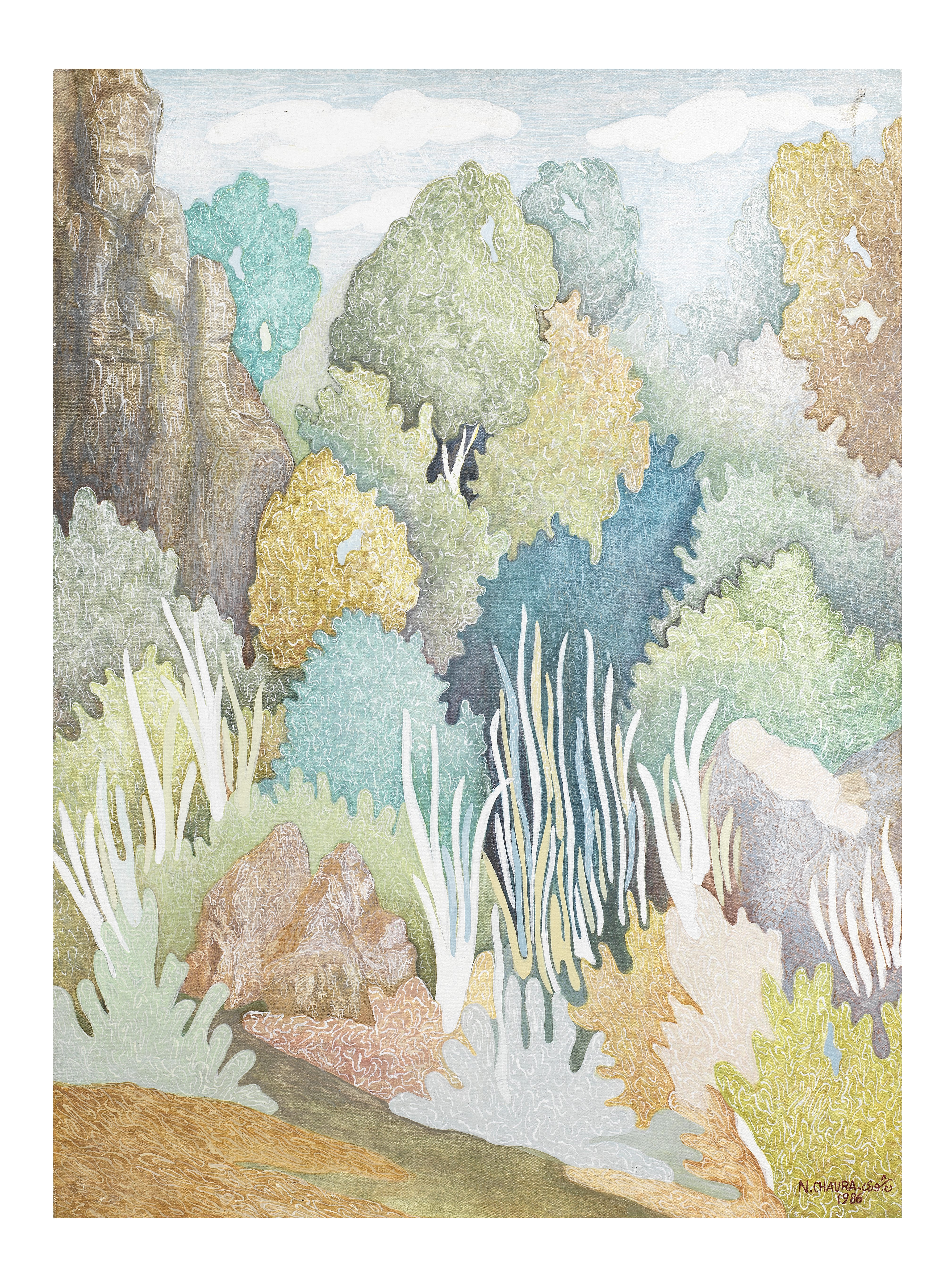 Naseer Chaura (Syria, 1920-1992) The Enchanted Forest