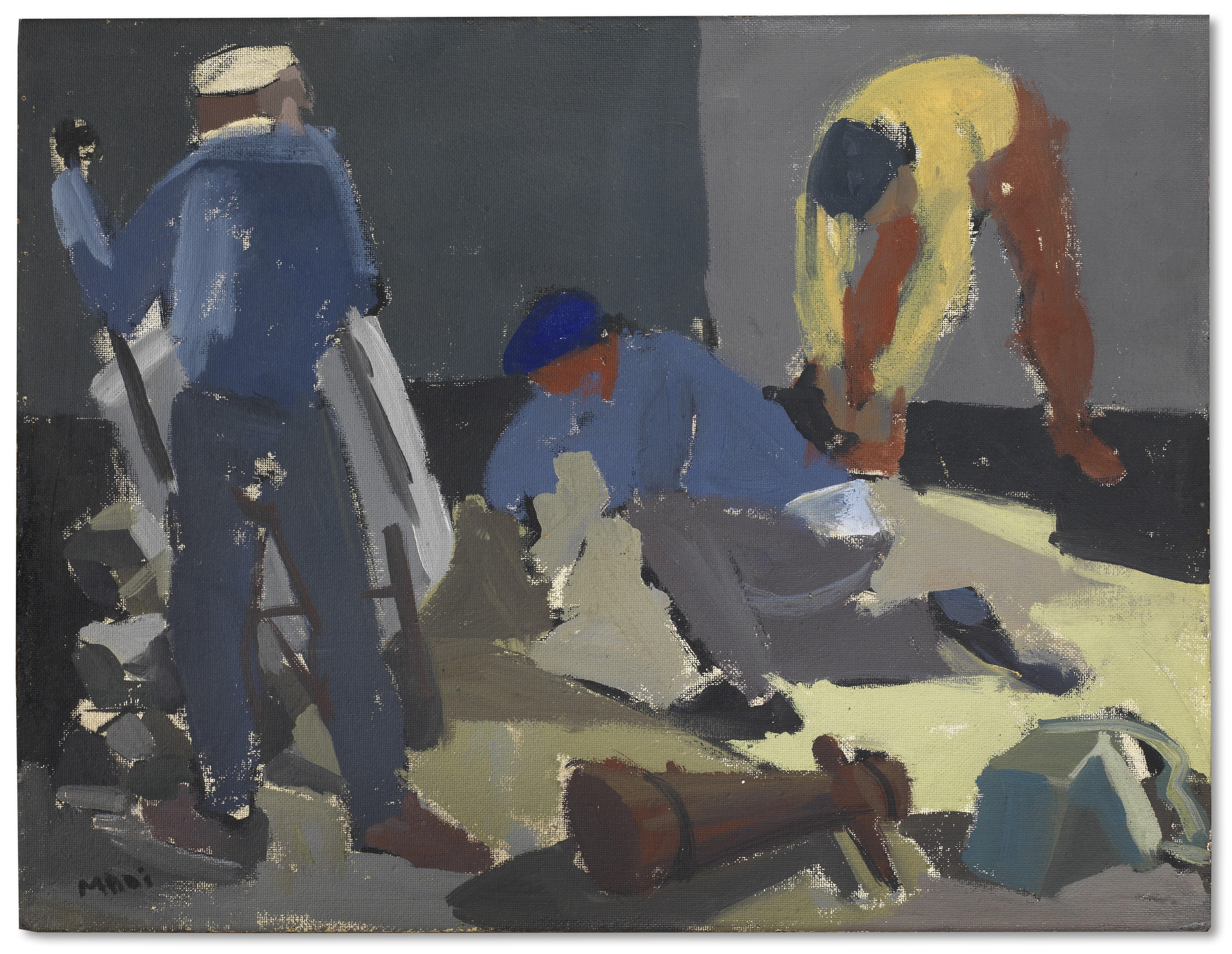 Hussein Madi (Lebanon, born 1938) The Workers