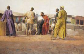 Ebenezer Akinola (Nigerian, born 1968) Goat Market