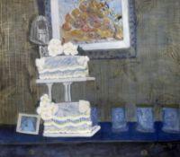 Bongi Bengu (South African, born 1970) Still life with wedding cake