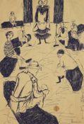 Dumile Feni-Mhlaba (Zwelidumile Mxgazi) (South African, 1942-1991) Three pen drawings: unframed (...