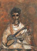 Alexander 'Skunder' Boghossian (Ethiopian, 1937-2003) Musician