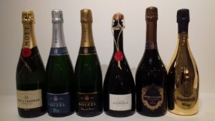 Piper-Heidsieck 2008 & NV (3) Gala, Gold Brut 2010, Jean-Charles Boisset Collection (1) Victoire,...