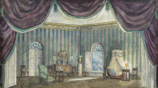 Alexandre Benois (Russian/French, 1870-1960) Set design for 'Le Spectre de la Rose'