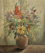 Grand Duchess Olga Alexandrovna (Russian, 1882-1960) Still life with flowers