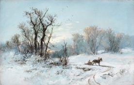 Nikolai Nikolaevich Karazin (Russian, 1842-1908) Winter scene