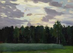 Nikolai Alexandrovich Klodt (Russian, 1865-1918) 'Dusk', 1914