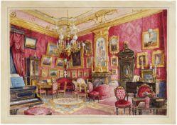Aleksander Kolb (Russian, 1819-1887) Palace Interior unframed