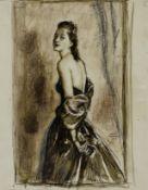 Serge Ivanoff (Russian, 1893-1983) Portrait of artist's wife 31 x 24cm (12 1/4 x 9 1/2in).