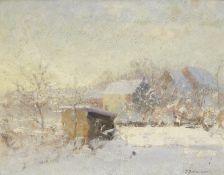 Ivan Pavlovich Pokhitonov (Russian, 1850-1923) Le poulailler vu de la chambre de Boris