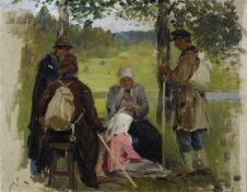 Sergei Arsenievich Vinogradov (Russian, 1869-1938) Rest stop