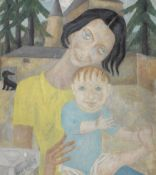 Marie Vassilieff (Russian, 1884-1957) Mother and a child