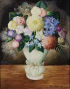 Olga Sacharoff (Russian, 1889-1967) 'Le vase vert' 67.3 x 54.5cm (26 1/2 x 21 1/2in).