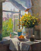 Vasiliy Panfilovich Kurmanaevski (Russian, 1894-1960) Still life unframed