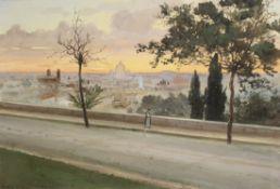 Albert Nikolaevich Benois (Russian, 1852-1936) 'Rome'