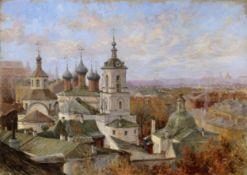 Nikolay Vasilievich Dosekin (1863-1935) View of The Chrysostom Monastery in Moscow unframed