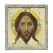 Mikhail Vasilievich Nesterov (Russian, 1862-1942) Icon of the Saviour Not-Made-By-Hands, 1910-1920
