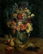 Constantin Terechkovitch (American/Russian, 1902-1978) Vase de fleurs et fruits