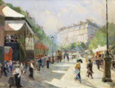 Georgii Alexandrovich Lapchine (Russian, 1885-1950) Paris, 14th June, 1910s