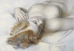 Lev Tchistovsky (Russian, 1902-1969) Reclining nude