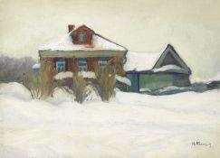 Nikolai Efimovich Kuznetsov (Russian, 1879-1970) Bitz Village, 1922