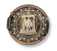 An Apulian red-figure knob-handled patera