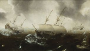 Jan Porcellis (Ghent 1584-circa 1632 Zoeterwoude) Shipping in a stormy sea