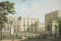Saverio della Gatta (Naples 1777-1829) View of Naples at Beverello from the side of Palazzo Reale...