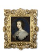 After Sir Anthony van Dyck, 17th Century Portrait of Charles I; and Portrait of Henrietta Maria, ...