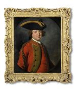 Allan Ramsay (Edinburgh 1713-1784 Dover) Portrait of a gentleman, half-length, in military unifor...