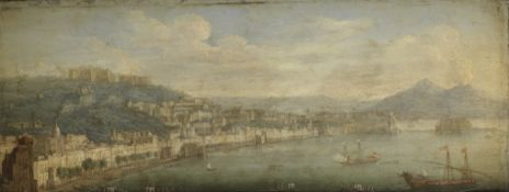 Tommaso Ruiz (active Naples mid 18th Century) Naples, looking towards the Castel dell'Ovo with Ve...