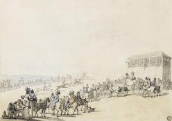 Thomas Rowlandson (London 1756-1827) Brighton Races