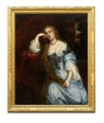 Studio of Sir Peter Lely (Soest 1618-1680 London) Portrait of a lady, said to be Lady Duke, seate...