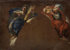 Luca Giordano (Naples 1634-1705) Moses and Joshua; and Elijah and Joseph (2)