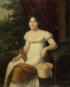 Firmin Massot (Geneva 1766-1849) Portrait of a lady, said to be Madame Anne Jean De La Guillaumie...