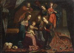 Josefa de Obidos (Seville 1630-1684 Obidos) The Mystic Marriage of Saint Catherine