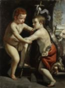 Guido Cagnacci (Santarcangelo di Romagna 1601-1663 Vienna) The Christ Child with the Infant Saint...