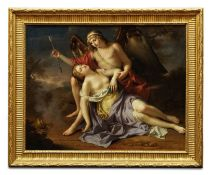 French School, circa 1800 Cupid and Psyche