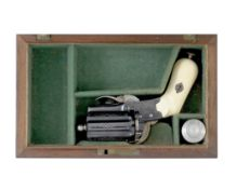 A Cased Liège Pin-Fire Meyers Patent Six-Shot Pocket Revolver Of Small Bore