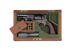 An Exceptional Cased .36 Percussion Manhattan Series IV Five-Shot Revolver