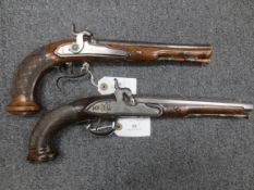 A French 32-Bore Percussion Officer's Pistol, And A Liège 28-Bore Percussion Officer's Pistol (2)